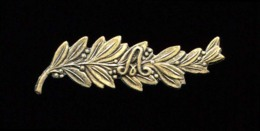 Palme Bronze Pour Croix De Guerre Belge Au Monogramme D'Albert 1er, Taille Ordonnance, Deux Pattes Repliables Au Dos - Autres