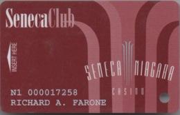 Seneca Niagara Casino : Seneca Club - Cartes De Casino