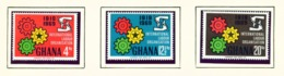 GHANA  -  1970 ILO Set Unmounted/Never Hinged Mint - Ghana (1957-...)