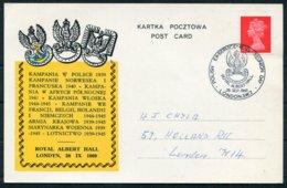 1969 GB Polish Ex-Servicemens Reunion Day. London Royal Albert Hall, Poland Military - 1952-.... (Elizabeth II)
