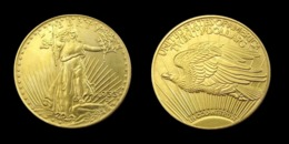COPIE - 1 Pièce Plaquée OR ( GOLD Plated Coin ) - Etats-Unis USA - 20 Dollars Saint Gaudens 1933 - L. Gold (Or)