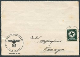 1941 Germany Official Ellwangen Typewritter Card - Allemagne