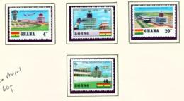 GHANA  -  1970 Kotoka Airport Set Unmounted/Never Hinged Mint - Ghana (1957-...)