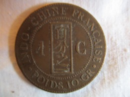 Indochine: 1 Centime 1894 - Colonies