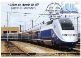 TGV Dupleix Gare De Laroche-Migennes 150 Ans De Chemin De Fer 13/14 Novembre 1999 - Treinen