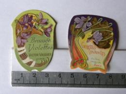 Etiquettes De Parfum - Lot De 2 - Victor Vaissier Paris - Brassée De Violettes Et Violettes Vivantes - Labels
