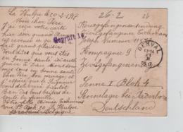 PR7434/ CP Fantaisie écrite De La Hulpe C.Genval 21/2/1917 > Camp De Paderborn PDG-POW Censure Du Camp Geprüft - WW I
