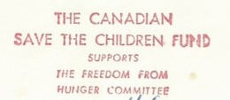F029 EMA AFS METER STAMP FREISTEMPEL - CANADA 1968 SAVE THE CHILDREN FUND FREEDOM FROM HUNGER - ACF - Aktion Gegen Den Hunger