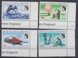British Antarctic Territory (BAT) 1969 Scientific Works 4v (corners)  ** Mnh (44951A) - Brits Antarctisch Territorium  (BAT)