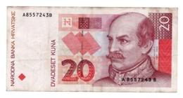 CROATIA»20 KUNA»1993»P-30 (WORLD PAPER MONEY)»VF CONDITION - Kroatië