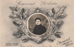 CPA Avec Photographie D'un Garçon Souvenir Scolaire 1924 (2 Scans) - Schools