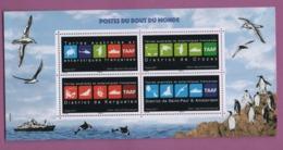 W35 TAAF Antarctique Bloc Souvenir 1 Postes Du Bout Du Monde °° 2017 - Blocs-feuillets