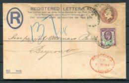1903 GB Registered Letter, Manchester / London - Imperial Ottoman Bank, Beirut Lebanon - 1902-1951 (Reyes)