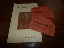 Programme Avec Tickets La Passion Marcinelle - Programmes