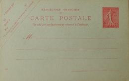R1189/105 - ENTIER POSTAL - TYPE SEMEUSE LIGNEE - N°129-CP1 (408) - Entiers Postaux