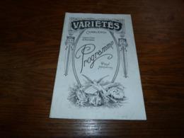 Programme Théâtre Variétés Charleroi 1923 Le Baron Vadrouille - Programmes