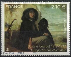 France 2019 Oblitéré Rond Gustave Courbet Autoportrait Au Chien Noir Y&T 5333 SU - Oblitérés