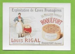 CPM UN SIECLE DE RECLAMES ALIMENTAIRES.Gastronomie.ROQUEFORT Louis Rigal,fromage Cuisine.1895 - Advertising
