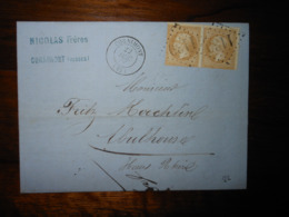 Lettre GC 1139 Cornimont Vosges Avec Correspondance Et Facture - Postmark Collection (Covers)