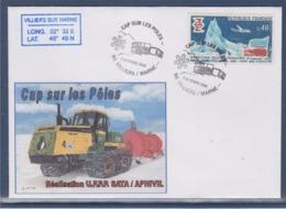 = Cap Sur Les Pôles Villiers Sur Marne 7 Octobre 2004 Complément Au Verso Timbres 1574 2681 2178 - Events & Commemorations