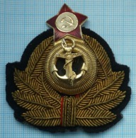 USSR Soviet Union RUSSIA Cap Hate Badge Cockade Navy. Fleet 1960-70s - Uniformes