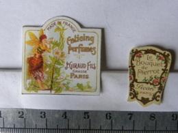 Lot De 2 étiquettes De Parfum - GIRAUD GRASSE - LE BOUQUET DE PIERROT - Labels