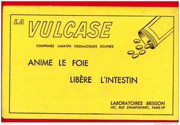 BUVARD 21,3 Cm X 13,8 Cm (Réf : (A588) LA VULCASE ANIME LE FOIE LIBÈRE L'INTESTIN LABORATOIRES BRISSON - Produits Pharmaceutiques
