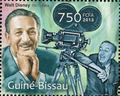 Guinea Bissau Walt Disney Camera 1v Stamp MNH Michel:6430 - Célébrités