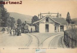 REMIREMONT ARRIVEE DU TRAMWAY DE GERARDMER CHEMIN DE FER TRAIN LOCOMOTIVE 88 - Remiremont