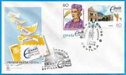 España. Spain. 1996. ESPAMER '96. Aviacion Y Espacio. Sevilla - Marcofilia - EMA ( Maquina De Huellas A Franquear)