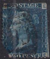 GB 1858 – 76 QV 2d Deep Blue ( E & E ) Plate 13 Clipped Corner SG 47 ( M1270 ) - Used Stamps