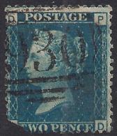 GB 1858 – 76 QV 2d Deep Blue ( P & D ) Plate 13 Clipped Corner SG 47 ( R14 ) - 1840-1901 (Victoria)