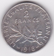 2 Francs Semeuse 1918, En Argent - I. 2 Francs