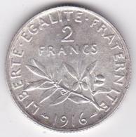2 Francs Semeuse 1916, En Argent - I. 2 Francs