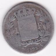 1 FRANC 1828 A PARIS. CHARLES X , En ARGENT - H. 1 Franco