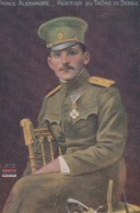 CPA SERBIE SERBIA Prince ALEXANDRE Héritier Du Trône Royauté Royalty (2 Scans) - Familles Royales