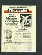 Vignette Complète D'entrée à La Fête De L'humanité Du Parti Communiste: 1983 Avec Dessin De Wolinski - Toegangskaarten