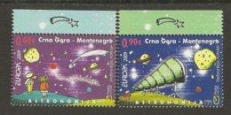 """MONTENEGRO / CRNA GORA - EUROPA 2009  - TEMA  """"ASTRONOMIA"""" - SET Of 2 Stamps  PERFORATED - Europa-CEPT"""