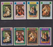 Série Complète GRENADA YT 368-375 - Tableaux De VIERGE - MADONNA Religion NOEL CHRISTMAS 1970 - Gemälde