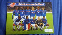 CPM SPORT FOOTBALL MATCH AMICAL BELGIQUE FRANCE A BRUXELLES LE 18 02 2004 NOMS JOUEURS INDIQUES AU VERSO - Soccer