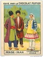 PU3      PERSE  IRAN    HABITS  MODE 7 X 5 Cm ASIE IRAK SYRIE  Chocolat Café - Old Paper