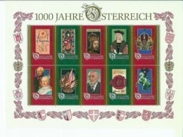 Austria 1000 Jahre Osterreich **II002 - Blocks & Kleinbögen