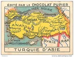 PU3     TURQUIE  D'ASIE    CARTE    7 X 5  Cm     ASIE   ORIENT   Chocolat Tradecard - Vieux Papiers