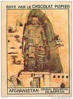 PU3    AFGHANISTAN  BAMYAN  GRAND BOUDDHA  ASIE HISTOIRE RELIGION 7 X 5 Cm  Chocolat Café - Vieux Papiers