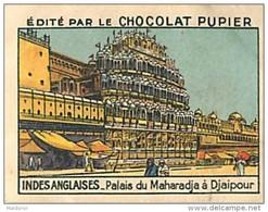 PU3    INDES  ANGLAISES  DJEPOUR  PALAIS DU MAHARADJA  INDIA INDE ASIE  7 X 5 Cm Chromo    Chocolat - Vieux Papiers