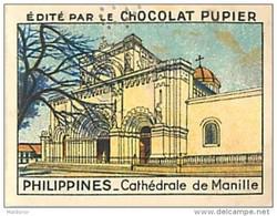 PU3    INDONESIE  ILES  PHILIPPINES  MANILLE  CATHEDRALE  RELIGION OCEANIE ASIE   7 X 5 Cm    Chocolat - Vieux Papiers