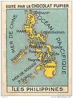 PU3    INDONESIE ILES  PHILIPPINES  CARTE.MAP 7 X 5 Cm ASIE OCEANIE    Chocolat - Vieux Papiers