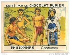 PU3    INDONESIE ILES  PHILIPPINES  IFUGAOS  IGORROTES  HABITS . MODE ASIE OCEANIE 7 X 5 Cm    Chocolat - Vieux Papiers