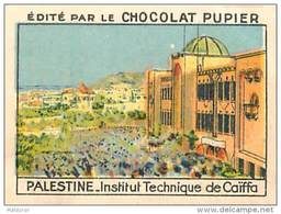 PU3    PALESTINE    CAIFFA   INSTITUT  TECHNIQUE    7 X 5  Cm     ASIE   ORIENT  ISRAEL Chocolat Tradecard - Vieux Papiers