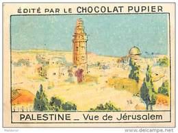PU3    PALESTINE    JERUSALEM    ISRAEL    7 X 5  Cm     ASIE   ORIENT   Chocolat Tradecard - Vieux Papiers